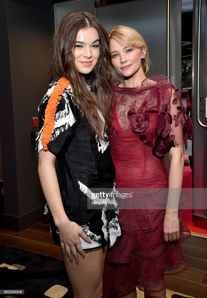 Actresses Hailee Steinfeld (L) and Haley Bennett attend Entertainment Weekly's Toronto Must List party at the Thompson Hotel on September 10, 2016 in Toronto, Canada.