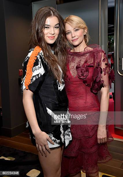 Actresses Hailee Steinfeld and Haley Bennett attend Entertainment Weekly's Toronto Must List party at the Thompson Hotel on September 10 2016 in...