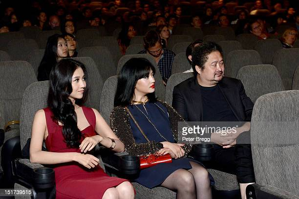 Actresses Han Wenwen and Li Xinyun and director ZHANG Yuan attend the Beijing Flickers Premiere at the 2012 Toronto International Film Festival at...