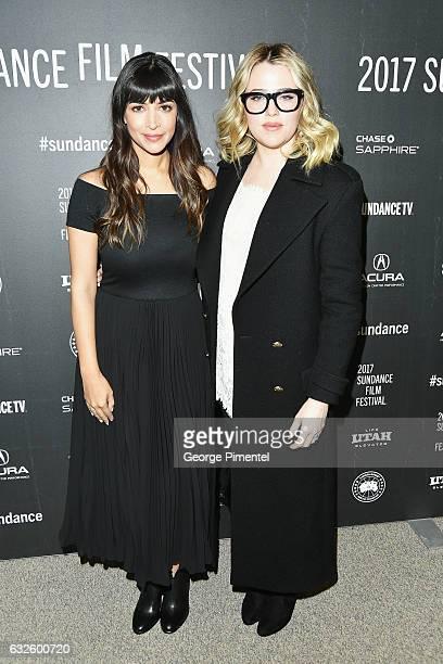 Actresses Hannah Simone and Majandra Delfino attend the  Band Aid  Premiere  at Eccles Center.  Band Aid  Premiere - 2017 Sundance Film Festival 062bc2b0d74e