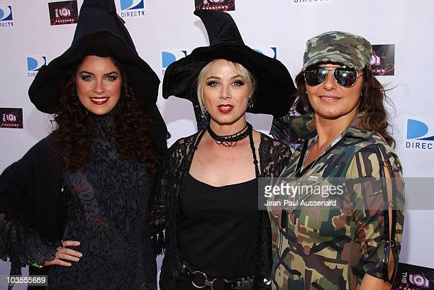 Actresses Hannia Guillen Kim Johnston Ulrich and Eva Tamargo arrive at Passions Halloween party held at Universal CityWalk on October 20th 2007 in...