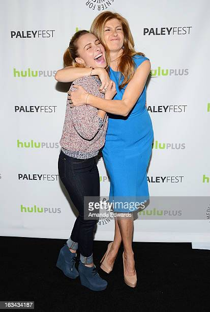 Actresses Hayden Panettiere and Connie Britton arrive at the 30th Annual PaleyFest The William S Paley Television Festival featuring 'Nashville' at...