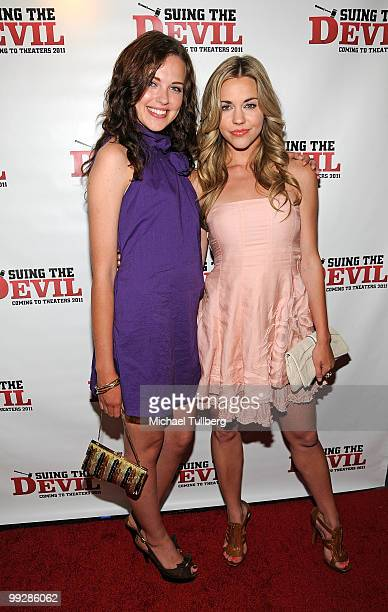 Actresses Heather Ann Davis and Samantha Cope arrive at the premiere of the film Suing The Devil at Fox Studios Hollywood on May 13 2010 in Los...