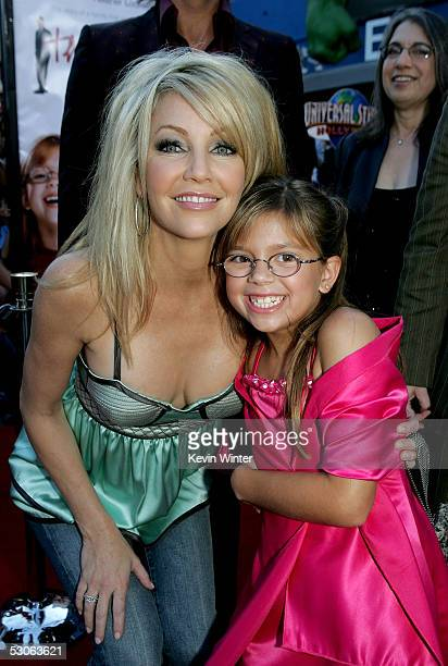 Actresses Heather Locklear and Aria Wallace arrive at the premiere of The Perfect Man at Universal Studios Cinema on June 13 2005 in Hollywood...