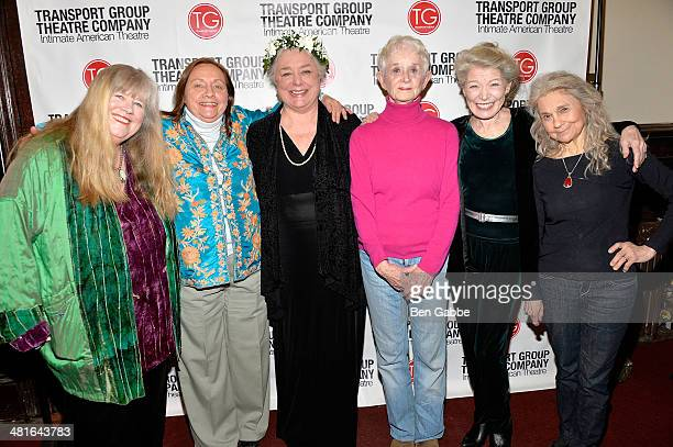 Actresses Heather MacRae Dale Soules Barbara Andres Barbara Barrie Phyllis Somerville and Lynn Cohen attend I Remember Mama Opening Night at The Gym...