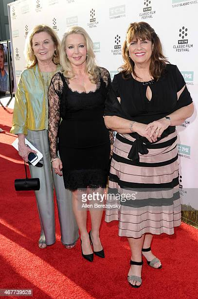 Actresses Heather MenziesUrich Kym Karath and Debbie Turner attend the 2015 TCM Classic Film Festival's opening night gala premiere of 50th...