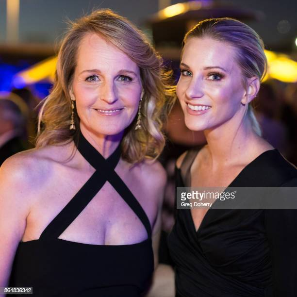 Actresses Helen Hunt and Heather Morris attend the Saint John's Health Center Foundation's 75th Anniversary Gala Celebration at 3LABS on October 21...