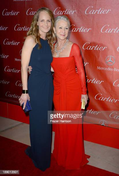 Actresses Helen Hunt and Helen Mirren arrive at the 24th annual Palm Springs International Film Festival Awards Gala at the Palm Springs Convention...