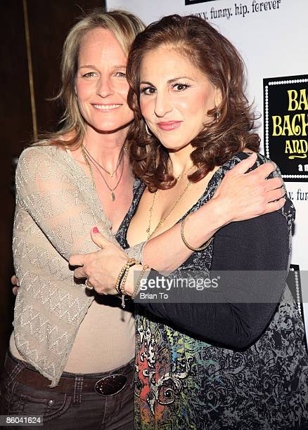 Actresses Helen Hunt and Kathy Najimy pose at Back to Bacharach and David Opening Night at Henry Fonda Theatre on April 19 2009 in Hollywood...