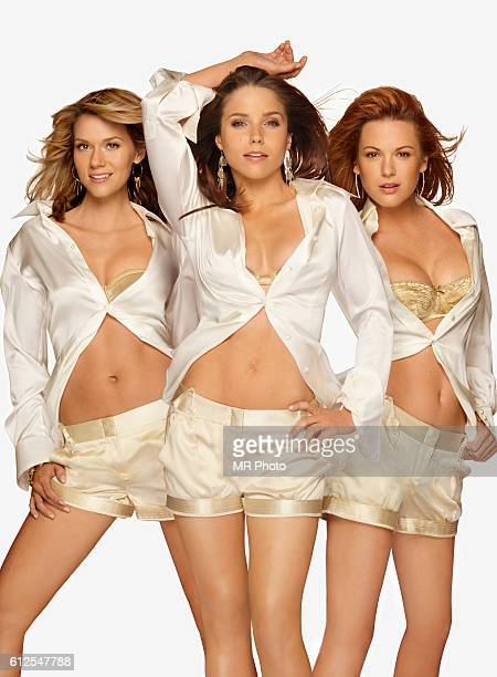 Hilarie Burton Sophia Bush and Danneel Harris are photographed for Maxim Magazine on August 28 2006 in Los Angeles California