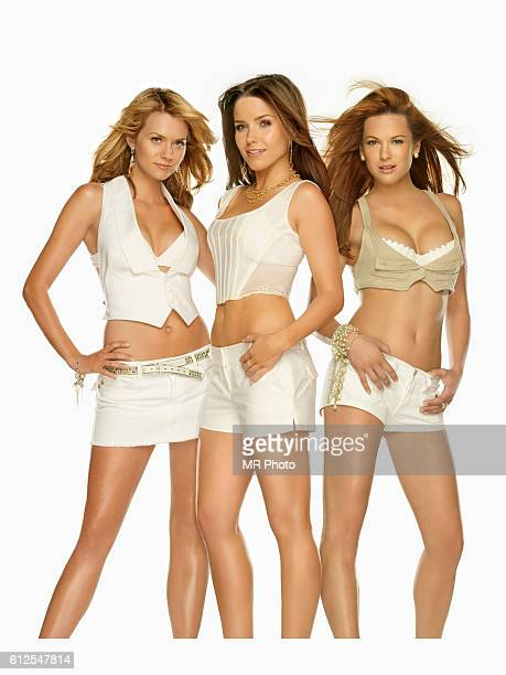 Hilarie Burton Sophia Bush and Danneel Harris are photographed for Maxim Magazine on August 28 2006 in Los Angeles California PUBLISHED IMAGE
