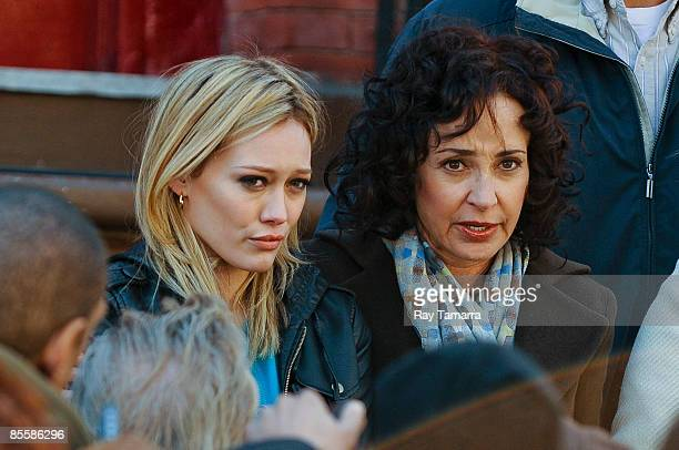 Actresses Hilary Duff And Annie Potts Film Scene At The Law Order Special Victims Unit