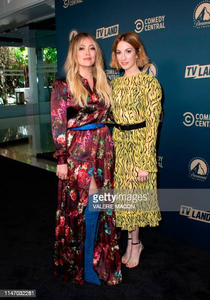 US actresses Hilary Duff and Molly Kate Bernard attend the first Comedy Central Paramount Network and TV Land Press Day on May 30 2019 in Los Angeles...