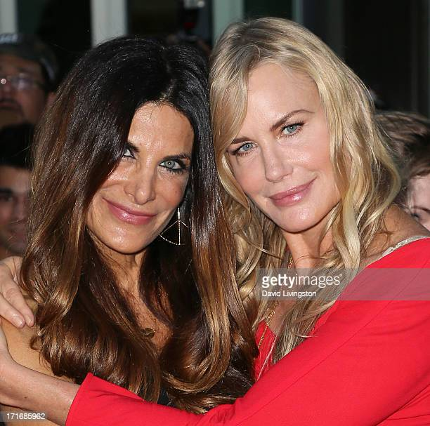 Actresses Hilary Shepard and Daryl Hannah attend the premiere of 'The Hot  Flashes' at