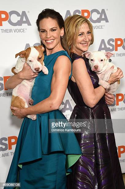 Actresses Hilary Swank and Edie Falco attend ASPCA'S 18th Annual Bergh Ball honoring Edie Falco and Hilary Swank at The Plaza Hotel on April 9 2015...