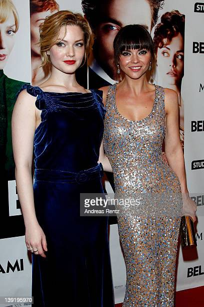 Actresses Holliday Grainger and Christina Ricci attend the Bel Ami Party during day nine of the 62nd Berlinale International Film Festival at...