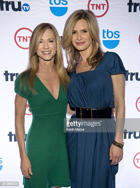 Actresses Holly Hunter and Kyra Sedgwick attend the 2008 Turner Upfront at Manhattan Center Studios in Hammerstein Ballroom on May 14 2008 in New...