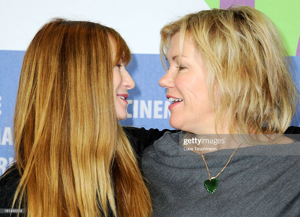Actresses Holly Hunter and Robyn Malcolm attend the 'Top Of The Lake' Press Conference during the 63rd Berlinale International Film Festival at the Grand Hyatt Hotel on February 11, 2013 in Berlin, Germany.