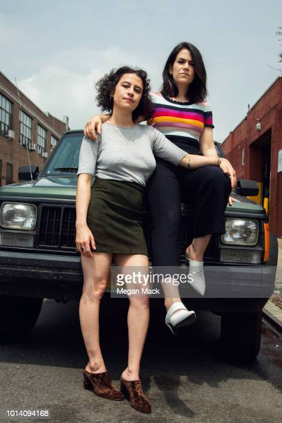 Actresses Ilana Glazer Abbi Jacobson are photographed for The Wrap on June 1 2018 in Brooklyn New York