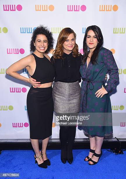 Actresses Ilana Glazer Amy Poehler and Abbi Jacobson attend Worldwide Orphans 11th Annual Gala at Cipriani on November 16 2015 in New York City