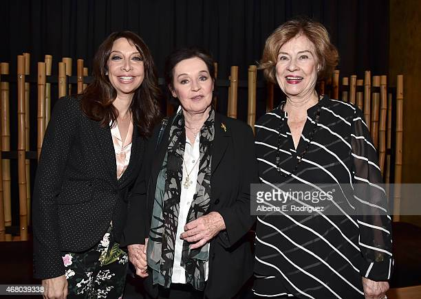 Actresses Illeana Douglas Millie Perkins and Diane Baker attend the screening of 'The Diary of Anne Frank' during day four of the 2015 TCM Classic...