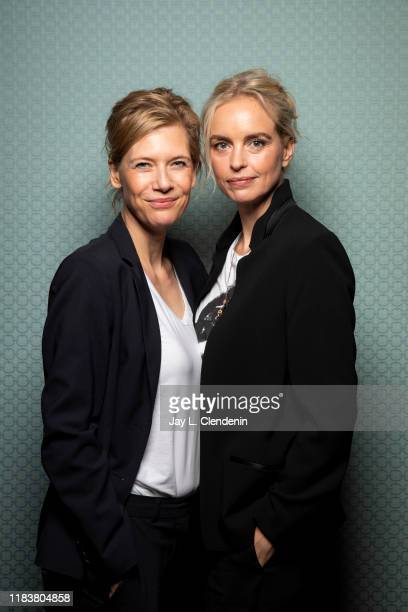 Actresses Ina Weisse and Nina Hoss from 'The Audition' are photographed for Los Angeles Times on September 9, 2019 at the Toronto International Film...