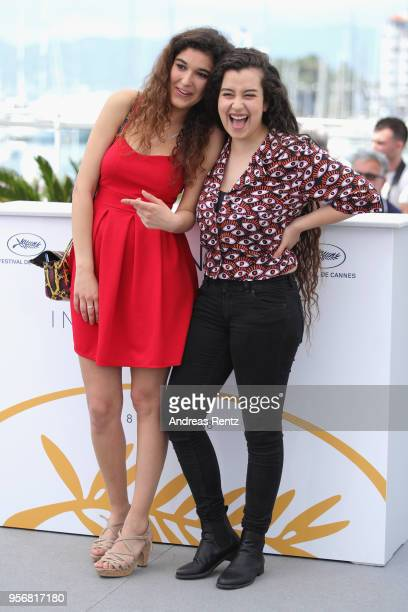 Actresses Inas Chanti and Souad Arsane at the photocall for 'A Genoux Les Gars' during the 71st annual Cannes Film Festival at Palais des Festivals...