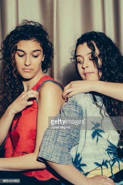 Actresses Inas Chanti Souad Arsane are photographed for Grazia Daily on May 2018 in Cannes France