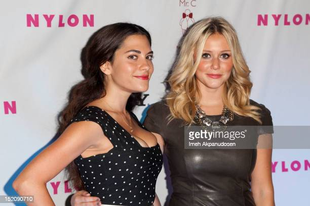 Actresses Inbar Lavi and Julianna Guill attend the NYLON And Sony X Headphones September TV Issue Party at Mr C Beverly Hills on September 15 2012 in...