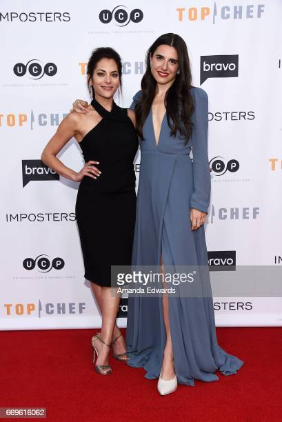 Actresses Inbar Lavi and Marianne Rendon arrive at the Bravo 'Imposters' For Your Consideration event with a food and cocktail reception presented by...