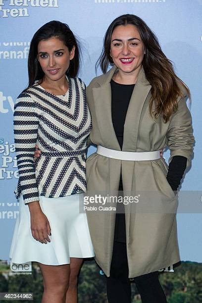 Actresses Inma Cuesta and Candela Pena pose during a photocall to present 'Las Ovejas No Pierden El Tren' at 'Palafox' cinema on January 27 2015 in...