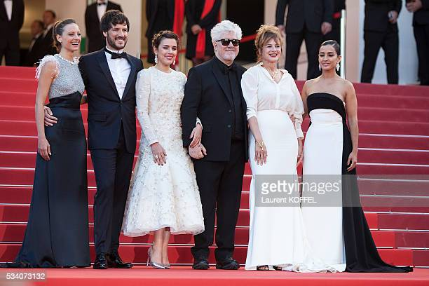 Actresses Inma Cuesta, Emma Suarez, director Pedro Almodovar, actress Adriana Ugarte, actor Daniel Grao and actress Michelle Jenner attend the...