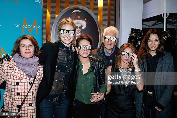 Actresses Irene Jacob Pauline Lefevre Barbara Cabrita singer Gerard Lenorman Sarah Guetta and Writer Eliette Abecassis attend the Sarah Guetta Party...