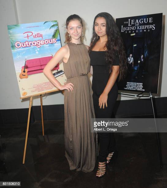 Actresses Isabella BlakeThomas and Laura Krystine attend the Screening Of 'Pretty Outrageous' And 'The League Of Legend Keepers' held at ArcLight...