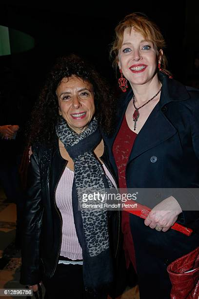 Actresses Isabelle De Botton and Agnes Soral attend the Coluche Exhibition Opening This exhibition is organized for the 30 years of the disappearance...