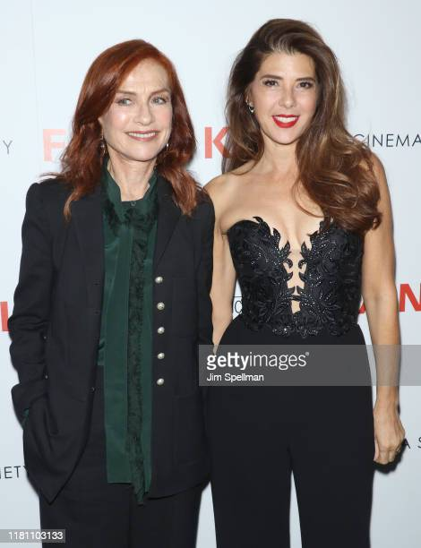 """Actresses Isabelle Huppert and Marisa Tomei attend the special screening of """"Frankie"""" hosted by Sony Pictures Classics and The Cinema Society at..."""