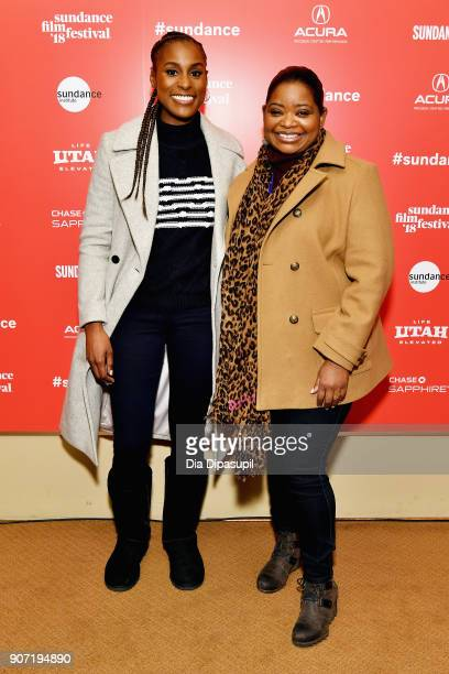 Actresses Issa Rae and Octavia Spencer attend the Power Of Story Panel Culture Shift during the 2018 Sundance Film Festival at Egyptian Theatre on...