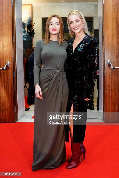 Actresses Ivana Baquero and Alejandra Onieva attend Alta Mar second season preview by Netflix at Noia Festival at the hometown of its creator Ramon...