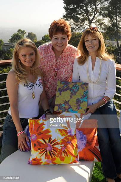 Actresses Jacee Jule Patrika Darbo and Frances Fisher attend 4th Annual Eco Emmys Celebrity Chateau Day 2 on August 27 2010 in Los Angeles California