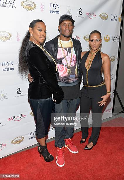 Actresses Jackie Christie guest and Sundy Carter attend the season premiere party of the reality show Basketball Wives LA at Allure Studios on...