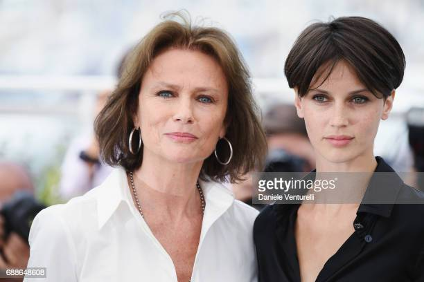 Actresses Jacqueline Bisset and Marine Vacth attend the 'Amant Double ' Photocall during the 70th annual Cannes Film Festival at Palais des Festivals...