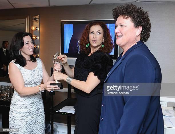Actresses Jacqueline Mazarella and Roma Maffia and costume designer Dot Marie Jones attend the 14th Annual Costume Designers Guild Awards With...