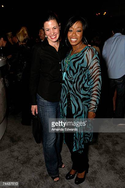Actresses Jacqueline Mazarella and Tichina Arnold attend the Davante Rodeo Store opening with Roberto Cavalli Eyewear on June 7, 2007 in Beverly...