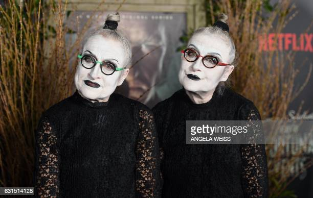 TOPSHOT Actresses Jacqueline Robbins and Joyce Robbins attend the premiere of Netflix's 'A Series of Unfortunate Events' at AMC Lincoln Square...