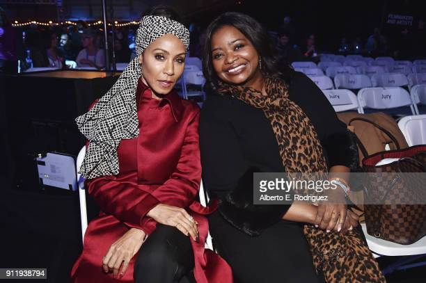 Actresses Jada Pinkett Smith and Octavia Spencer attend the Sundance Film Festival Awards Reception at Basin Recreation Field House on January 27...
