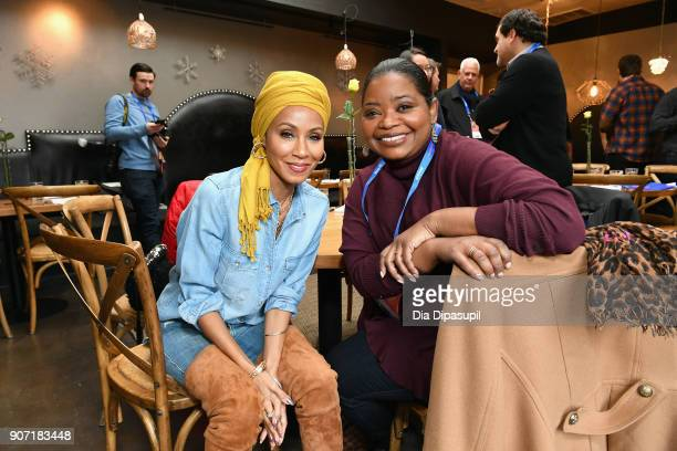 Actresses Jada Pinkett Smith and Octavia Spencer attends the Feature Film Jury Orientation Breakfast during the 2018 Sundance Film Festival at Cafe...