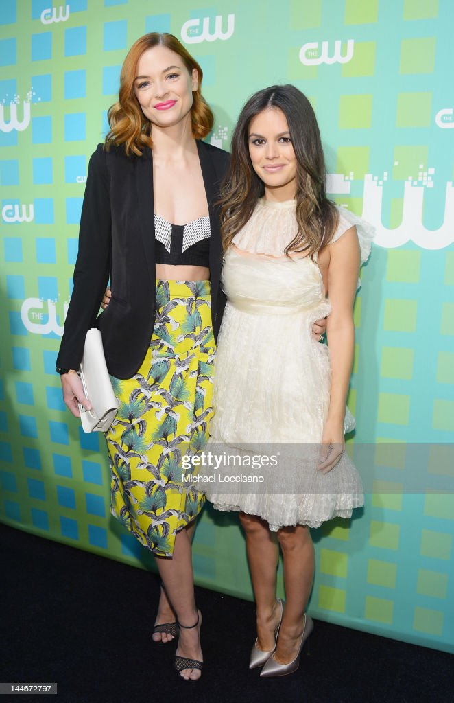 Actresses Jaime King (L) and Rachel Bilson attend The CW Network's New York 2012 Upfront at New York City Center on May 17, 2012 in New York City.
