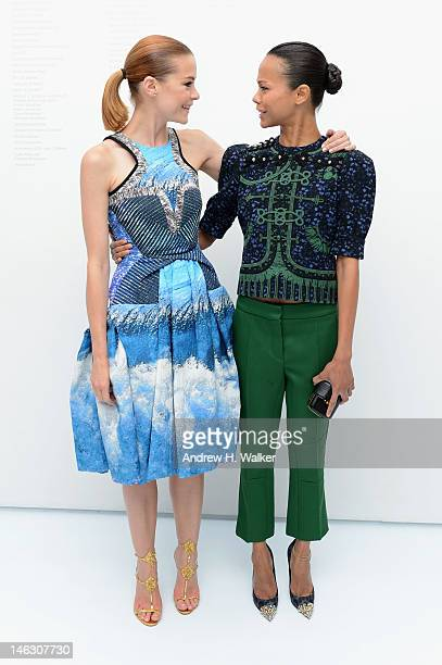 Actresses Jaime King and Zoe Saldana attend the Persol Magnificent Obsessions exhibition honoring Arianne Phillips, Patricia Clarkson, and Todd...
