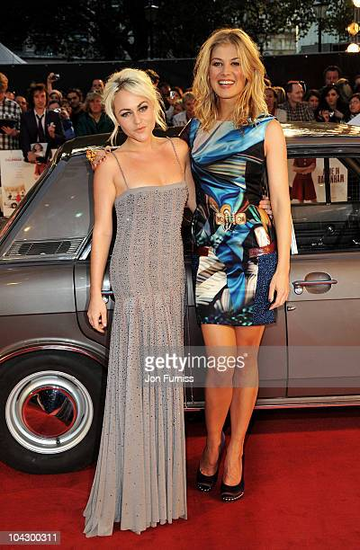 Actresses Jaime Winstone and Rosamund Pike attend the Made in Dagenham world premiere at the Odeon Leicester Square on September 20 2010 in London...