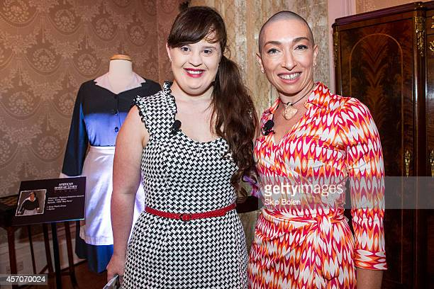Actresses Jamie Brewer and Naomi Grossman attend the 'American Horror Story Coven' fan event to celebrate the October 7th Bluray and DVD release at...